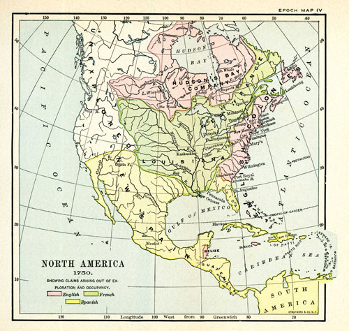 The Project Gutenberg Ebook Of The Colonies By Reuben - Epoc maps illistrating us history