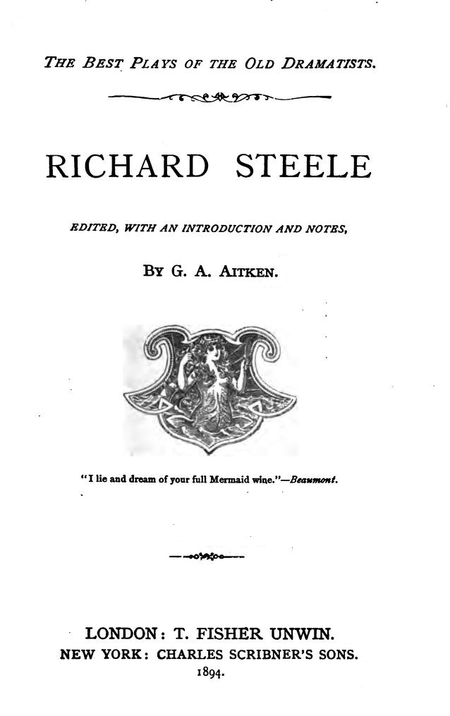 The Project Gutenberg Ebook Of The Complete Plays Of Richard Steele By Richard Steele